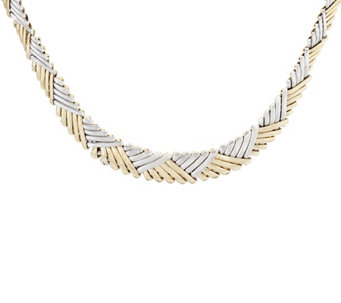 "Dieci 18"" Two-tone Stampato Necklace 10K Gold 14.9g - J332274"