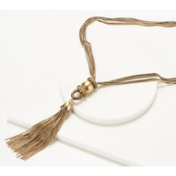 Joan Rivers Polished Tassel Necklace with 3 Extender