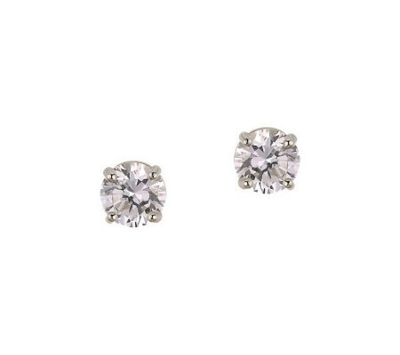 Diamonique 0.75 ct tw Round Stud Earrings, 14KGold