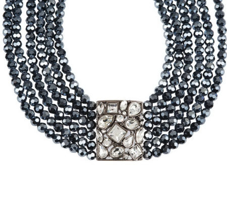Kenneth Jay Lane's Faceted Bead & Multi Stone Necklace