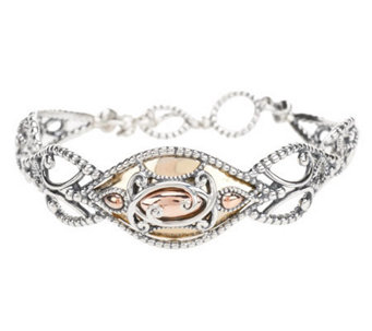 """As Is"" Carolyn Pollack Opulence Mixed Metal Bracelet - J263275"