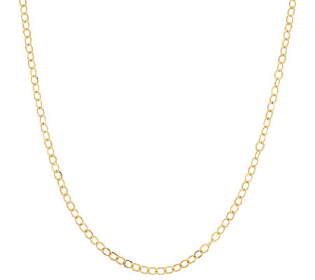 "14K Gold 16"" Diamond Cut Rolo Link Chain Necklace, 1.5g"