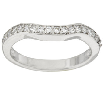 Diamonique Band Ring, Platinum Clad - J294875