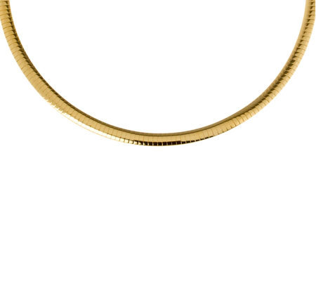 "Veronese 18K Clad 18"" Polished Omega Necklace"