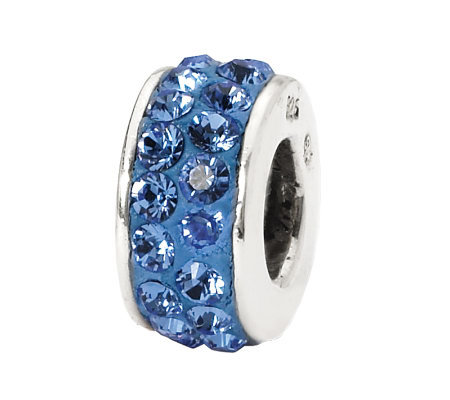 Prerogatives Sterling Blue Double Row SwarovskiCrystal Bead