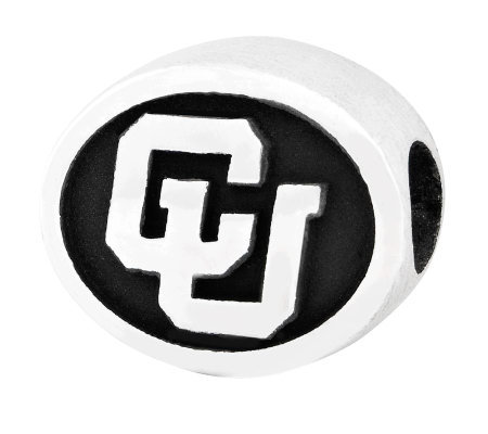 Sterling Silver University of Colorado Bead