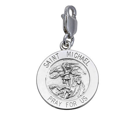 Sterling Silver Saint Michael Medal Charm