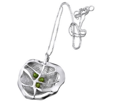 Hagit Gorali Layered Caged Vibes Pendant with Chain, Sterling