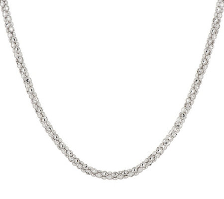 "Silver Style Diamond Cut 18"" Sterling Silver Necklace"