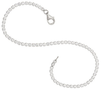 """As Is"" Diamonique Everyday Tennis Bracelet, Sterling - J321175"