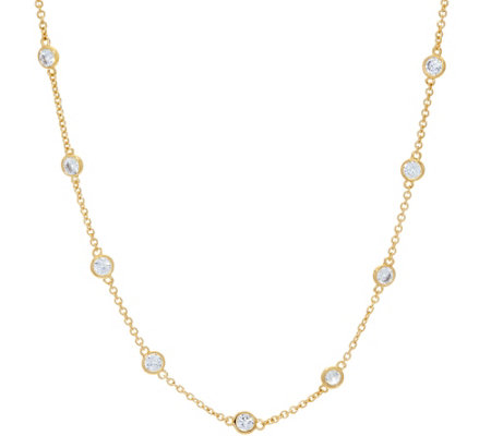 "The Elizabeth Taylor Simulated Diamond Station 18"" Chain"