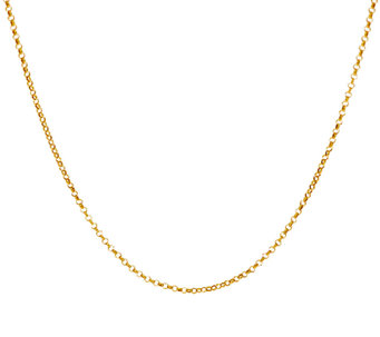 "Vicenza Gold 36"" Round Rolo Link Chain Necklace 14K, 1.9g - J324675"