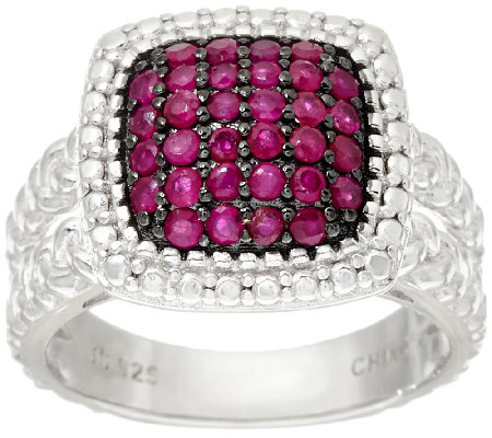 0.50 cttw Precious Pave' Gemstone Sterling Silver Ring