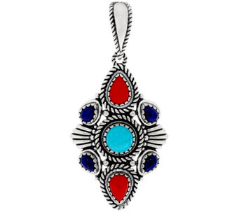 Sterling Silver Multi-Gemstone Enhancer by American West - J330475