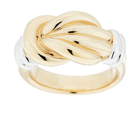 """As Is"" 14K Gold Polished Knot Design Ring"