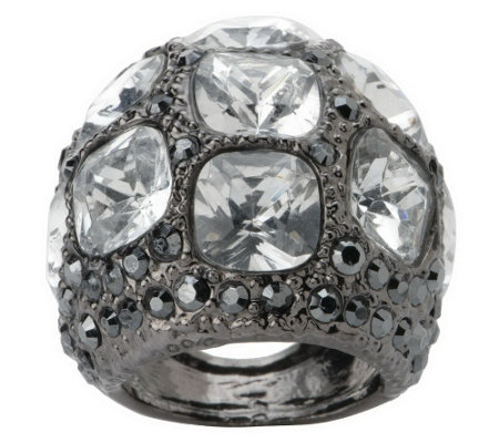 """As Is"" Kenneth Jay Lane's Manhattanite Pave' Ring"