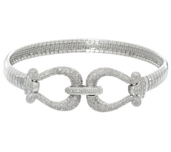 """As Is"" Diamond Omega Bracelet, Sterling, 1/3 cttw, by Affinity - J335875"