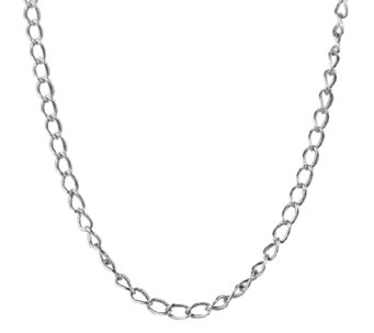 "Sterling 14"" Antiqued Cable Chain Necklace, by American West - J338975"