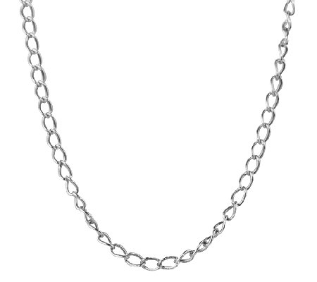 "Sterling 14"" Antiqued Cable Chain Necklace, by American West"