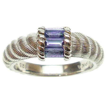Judith Ripka Sterling Silver and Tanzanite Ring