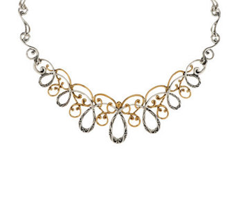 Carolyn Pollack Sterling & Brass Statement Necklace - J341475