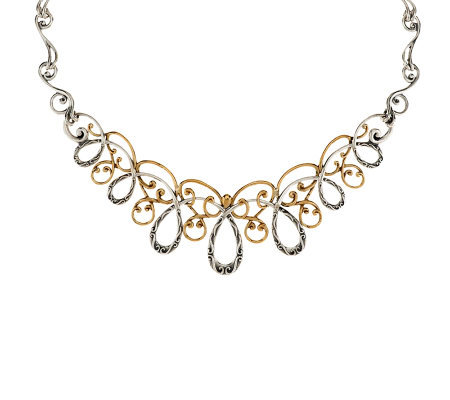 Carolyn Pollack Sterling & Brass Statement Necklace