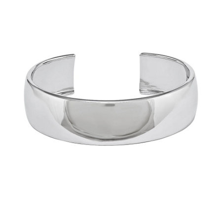 Sterling Silver Polished Classic Cuff b y Silver Style