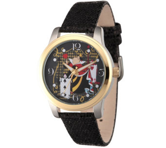 Disney Alice in Wonderland Women's Black Watch - J342275