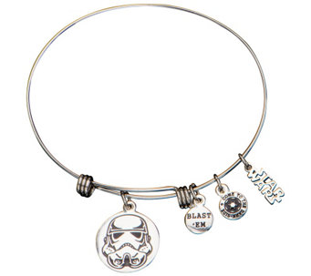 Star Wars Stainless Steel Stormtrooper Expandable Bracelet - J342475