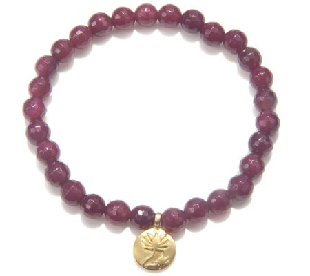 Satya 5.5mm Gemstone Bead Stretch Bracelet