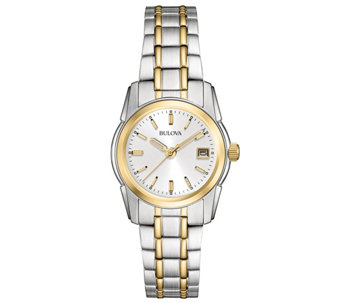 Bulova Women's Two-tone Stainless Steel Bracelet Watch - J343575