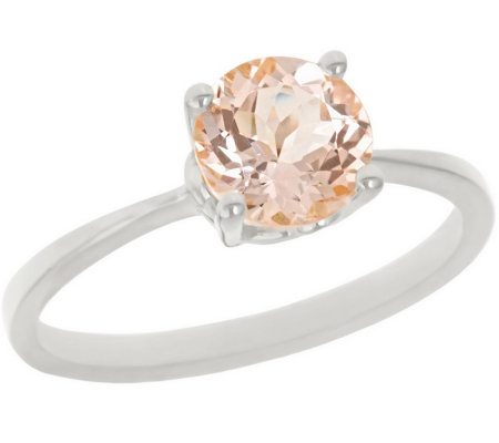 1.00 ct Round Morganite Ring, 14K Gold