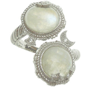 Judith Ripka Sterling Moonstone Bypass Ring - J345375
