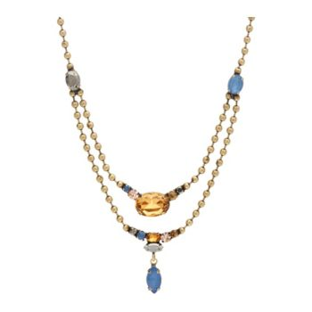 LOGO Links by Lori Goldstein Bead Double Row Chain Necklace