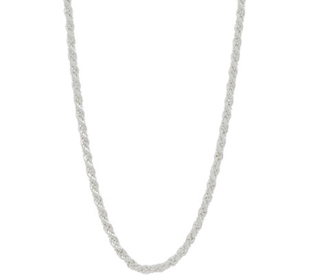 "Sterling 16"" Twisted Rope & Bead Chain by Silver Style, 11.4g"