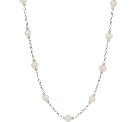 "Honora Cultured Pearl 36"" Sterling Necklace"