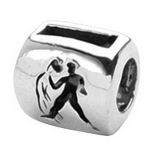 Prerogatives Sterling Zodiac Sign Antiqued Bead - J108976