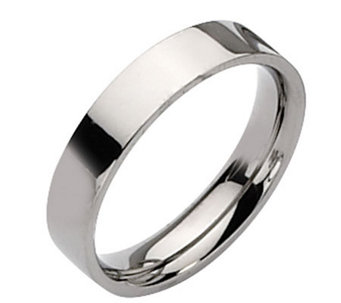 Titanium Flat 5mm Polished Ring - J109976