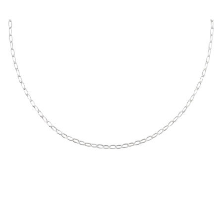 "UltraFine Silver 18"" Petite Oval Link Chain, 4.2g"