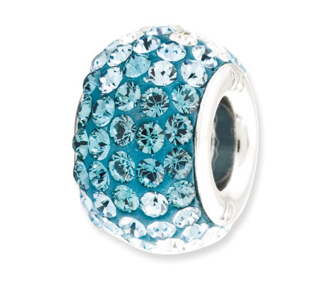 Prerogatives Sterling Bright Light Blue CrystalBead