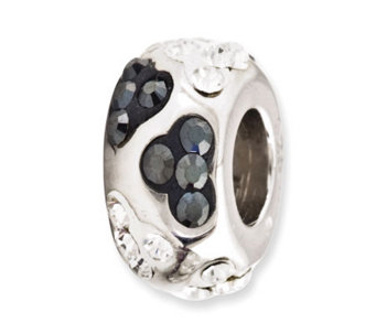 Prerogatives Sterling Clear & Black Crystal Bead - J113276