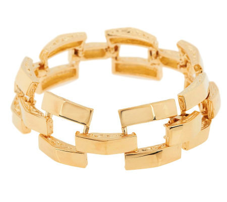 "Jacqueline Kennedy Pyramid Style 7"" Adjustable Bracelet"