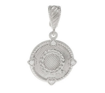 Judith Ripka Sterling Diamonique Initial Enhancer - J269776