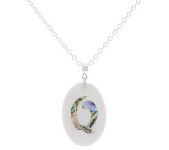 "Lee Sands Oval Initial Mother-of-Pearl & Shell 30"" Necklace - J281176"