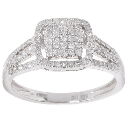 """As Is"" Cluster Design Halo Diamond Ring, 14K 1/2 ct tw by Affinity"
