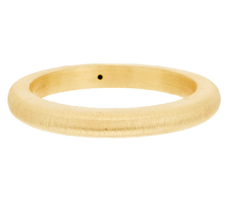 Veronese 18K Clad Bold Large Brushed Satin Round Bangle