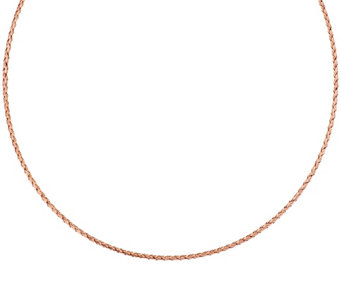 "Vicenza Gold 20"" Woven Round Omega Necklace 14K Gold, 3.4g - J295176"