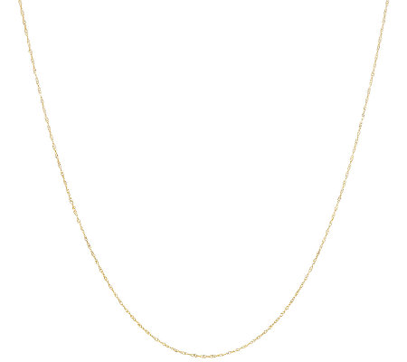 "Vicenza Gold 16"" Singapore Chain Necklace 14K Gold"