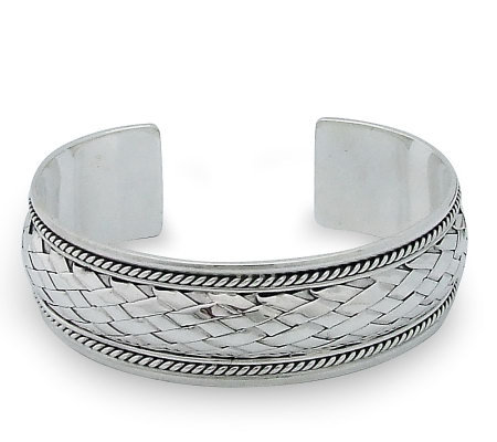 "Novica Artisan Crafted Sterling ""Modern"" Cuff"