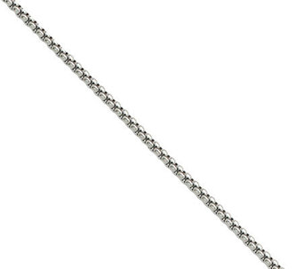 "Stainless Steel 2.2mm 20"" Round Box Chain Necklace - J308876"